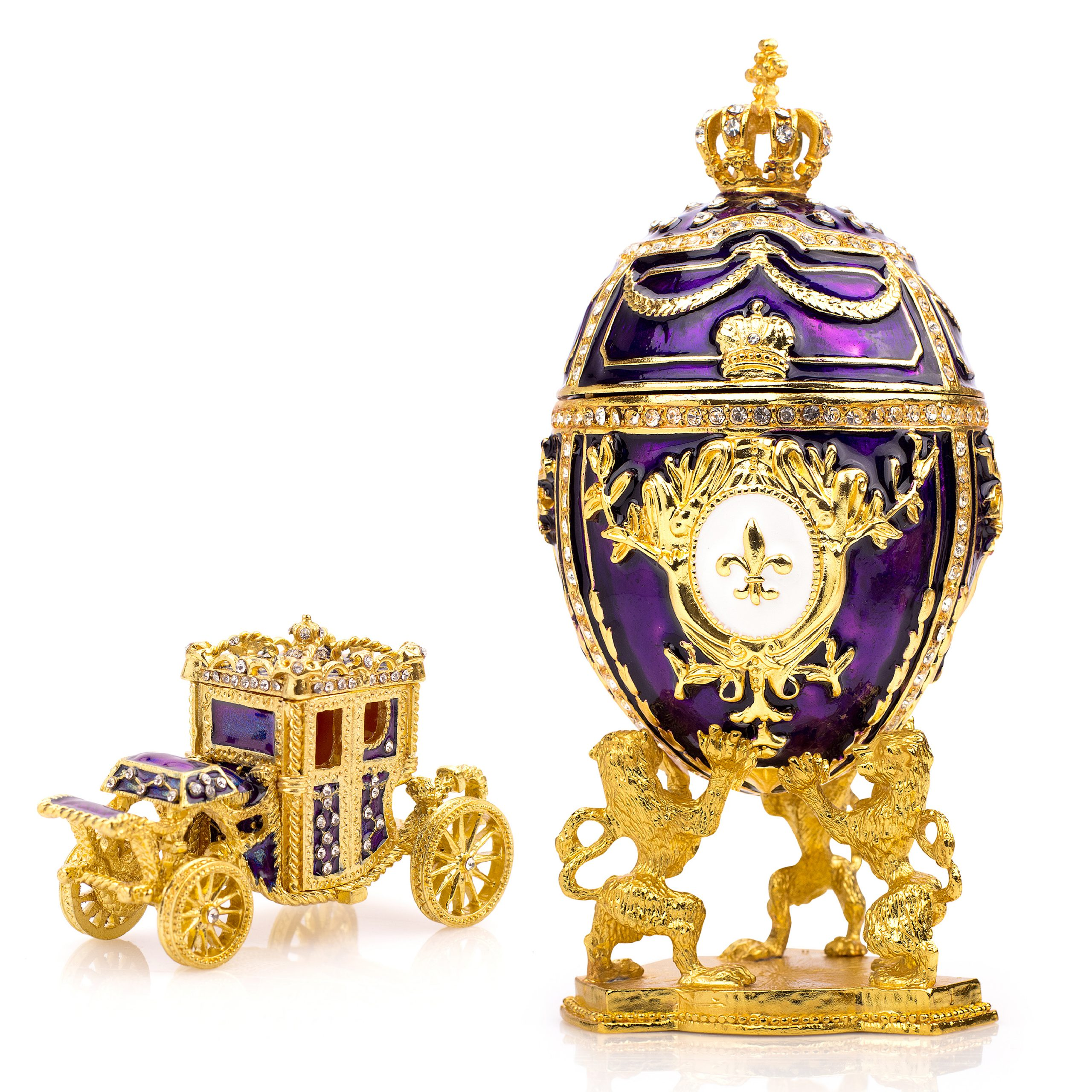 purple faberge replica set beauty
