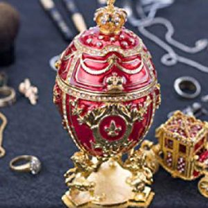 red imperial faberge egg set